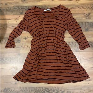 Stripped 3/4 sleeve dress - Maurices - XL
